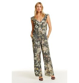 Double Ruffle Wide Leg Jumpsuit