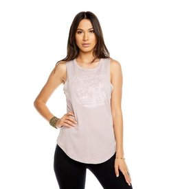 Gauzy Muscle Tee Whiskey & Lace