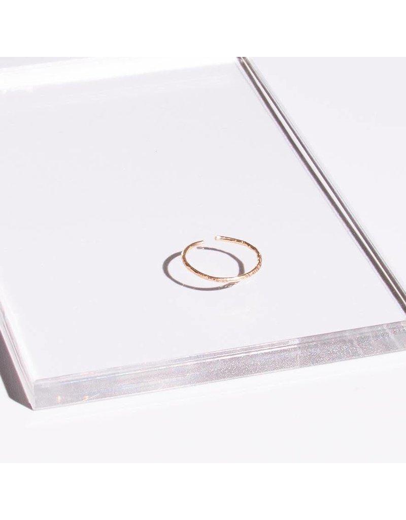 SKIN Alix Textured Hammered Cuff Ring
