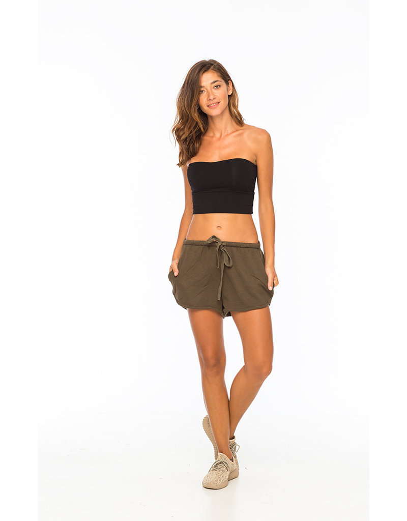 Ghee Strapless Crop Top