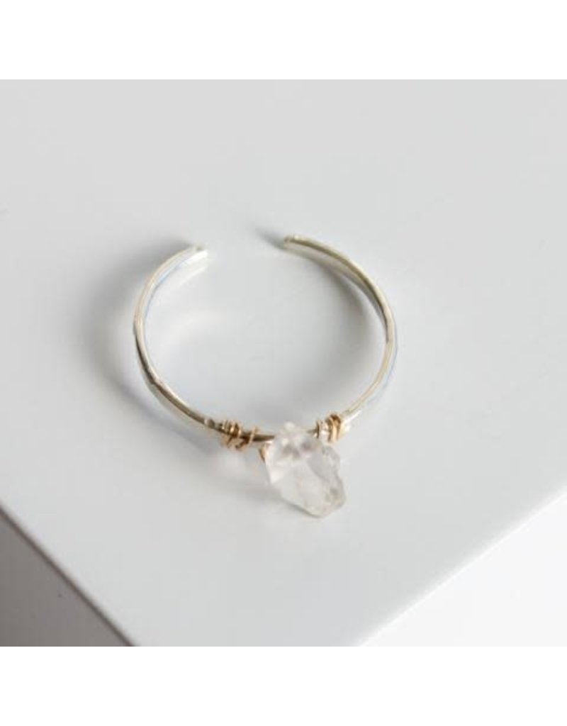 SERAPHINA Find Ring w/ Herkimer Diamond