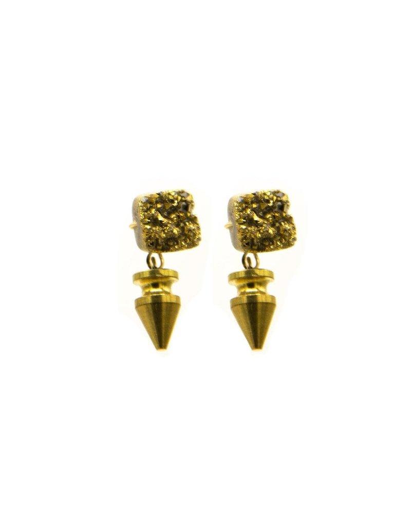 HAVEN Mira Druzy Drop Earring