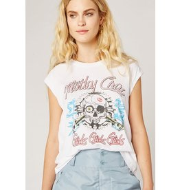 Daydreamer Motley Crue Skull Drop Shoulder