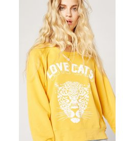 Daydreamer Love Cats Varsity Sweatshirt