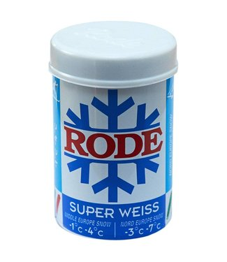 Rode BLUE SUPER WEISS: KICK/GRIP WAX P28 -1C°|-4C°, 50g (2018)