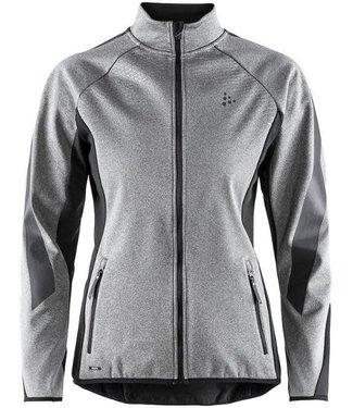 Craft SHARP Jacket - BLACK/DK GREY MELANGE - W