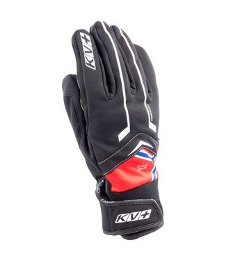 KV+ COLD PRO NORWAY GLOVES BLACK/RED (2018)