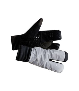 Craft SIBERIAN GLOW SPLIT FINGER GLOVE, SILVER/BLACK