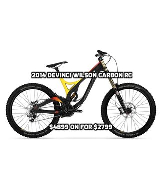 Devinci 2014 Devinci Wilson Carbon RC Yellow/Red |LG| Demo Bike