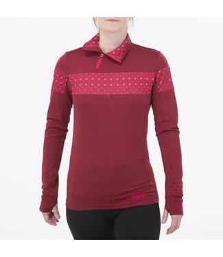 Swix Myrene Asymetric 1/2 Zip Nordic Sweater - W