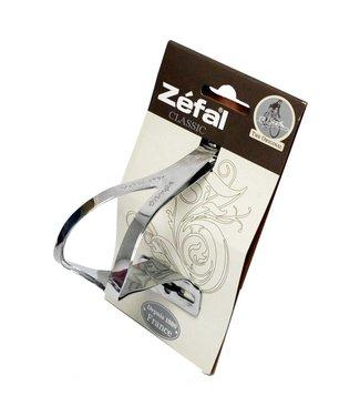 Zefal Toe Straps: Silver, Metal