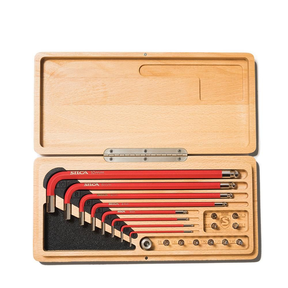 Silca HX-ONE HOME ESSENTIAL TOOL DRIVE KIT IN WOOD BOX