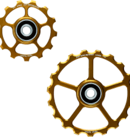 Ceramic speed SPARE OSPW PULLEY WHEEL 13/19T GOLD NON COATED