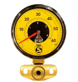 Silca SUPER PISTA ULTIMATE REPLACEMENT GAUGE KIT 60PSI (YELLOW)