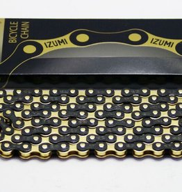 IZUMI CHAINE IZUMI 1/2 X 1/8 STANDARD JET BLACK & GOLD 116L