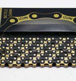 IZUMI IZUMI CHAIN 1/2 X 1/8 STANDARD JET BLACK & GOLD 116L