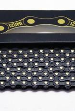 IZUMI IZUMI CHAIN 1/2 X 1/8 STANDARD JET BLACK & JET BLACK 116L
