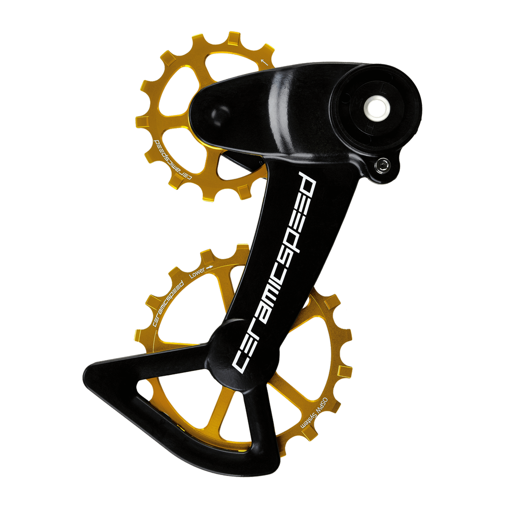 Ceramic speed OSPW X SRAM ALTERNATIVE EAGLE AXS GOLD COATED