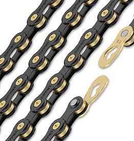 WIPPERMANN CHAIN 11 SPEED BLK/GOLD INCL CONNECTOR CONNEX LINK