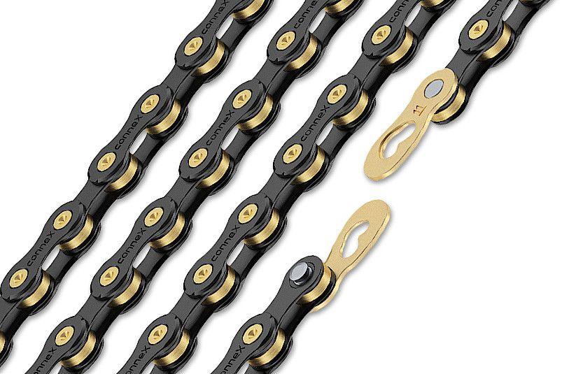 WIPPERMANN CONNEX CHAIN 11 SPEED BLK/GOLD