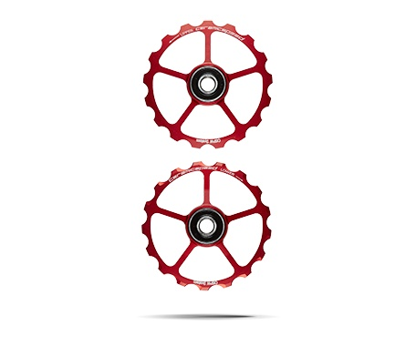 Ceramic speed PULLEY WHEEL OSPW (SPARE) 17T RED, NON COATED