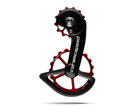 Ceramic speed CERAMICSPEED, OVERSIZED PULLEY WHEEL, SHIMANO 9100, 13/19, ALLOY, RED, NON COATED