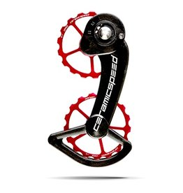 Ceramic speed CERAMICSPEED, OVERSIZED PULLEY WHEEL, SRAM ETAP, 17T, ALLOY, RED, NON COATED