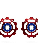 Ceramic speed GALETS SRAM 11S ROUTE, 11T, ALLOY, ROUGE, NON COATED