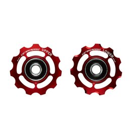 Ceramic speed PULLEY WHEEL 9-10 SPEED  SHIMANO RED NON COATED