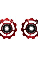 Ceramic speed PULLEY WHEEL CAMPY 11S RED NON COATED