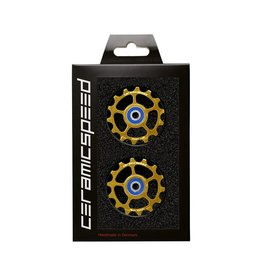 Ceramic speed PULLEY WHEEL FOR EAGLE 14 COATED , SRAM EAGLE 12S GOLD