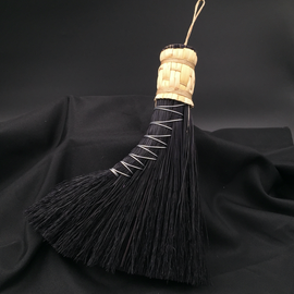 Hex Turkey Tail Altar Broom (black)