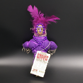 Hex New Orleans Swamp Witch Voodoo Doll in Purple