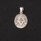 Hex Sterling Silver Masonic Pendant Deco