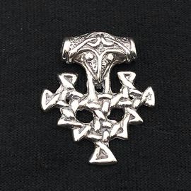 Hex Thor's Hammer Hiddenssee in Silver