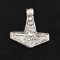 Hex Thor's Hammer with Sea Eagle in Silver