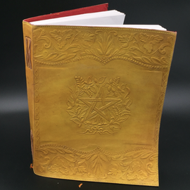 Hex Large Herbal Pentagram Journal in Yellow