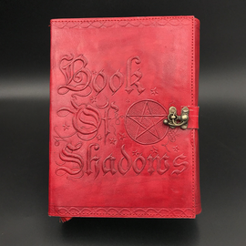 Hex Small Book of Shadows Journal in Red