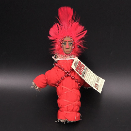 Hex New Orleans Swamp Witch Voodoo Doll in Red