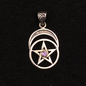 Hex Pentacle with Moon and Amethyst