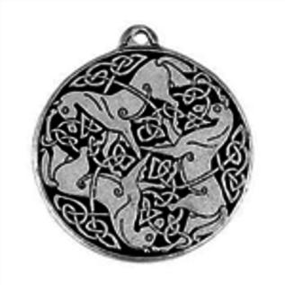 Hex Celtic Horses Talisman Pendant