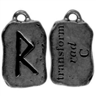 Hex Rad Rune Pendant - Transform