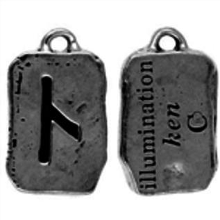 Hex Ken Rune Pendant - Illumination