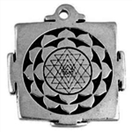 Hex Shri Yantra Talisman Pendant