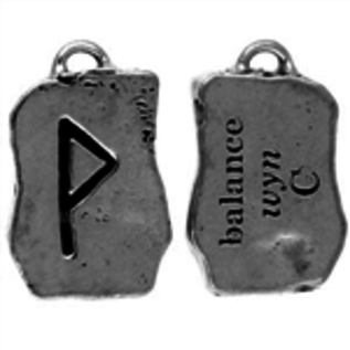 Hex Wyn Rune Pendant - Balance