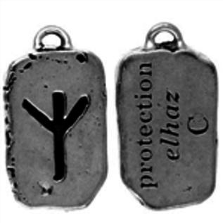 Hex Elhaz Rune Pendant - Protection
