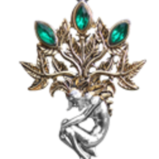 Hex Mandrake for Luck and Wealth Pendant