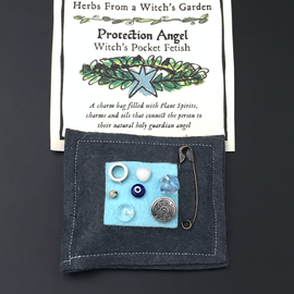 Hex Protection Angel Witch's Pocket Fetish - Herbs from a Witch's Garden