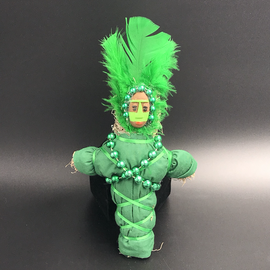 Hex New Orleans Swamp Witch Voodoo Doll in Green