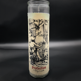 Hex 7-Day Protection Candle by Sabrina the Ink Witch